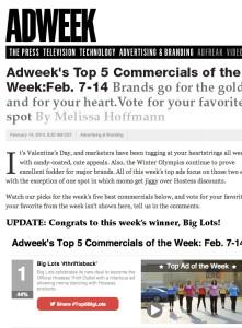 Adweek's Ad of the Week - Big Lots