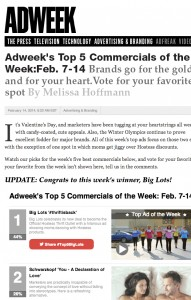 AdWeek's Ad of the Week - Big Lots Mostess #thriftisback