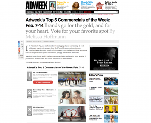 OKRP Voted AdWeek's Ad of the Week