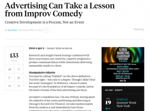 Advertising Can Take a Lesson from Improv Comedy
