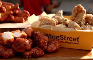 WingStreet wings with different sauces.