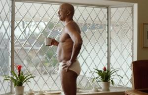 Older dad wearing tighty-whities, not Gildan underwear
